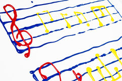Painted sheet music Stock Photography