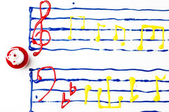 Painted sheet music Royalty Free Stock Photos