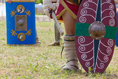 Painted Shields Carried by Gladiators Stock Photography