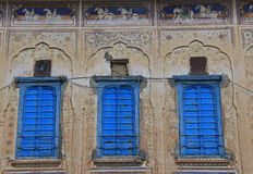 Painted shutters and frescoes Royalty Free Stock Images