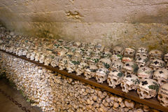 Painted Skulls in a Bone House Stock Image
