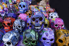 Painted skulls Stock Image