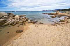 Painted sky in Sardinia coast Stock Photography