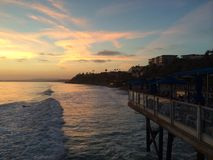 Painted sky sea. Beautiful sunset from the San Clemente pier Stock Photo