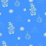 Painted a small child seamless pattern Stock Photos