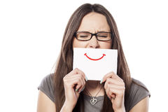 Painted smile Royalty Free Stock Image