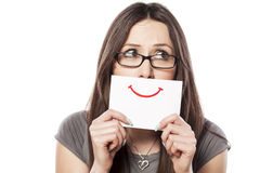 Painted smile Royalty Free Stock Photo
