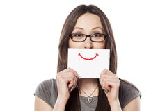 painted smile Stock Photos