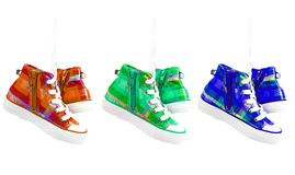 Painted sneakers Royalty Free Stock Photo