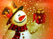 Painted snow man Stock Photography