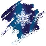 Painted snowflake Stock Photos