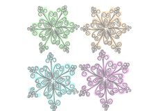 Painted snowflake Royalty Free Stock Photos