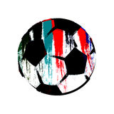 Painted soccer ball. Illustration of painted soccer ball isolated on white background Stock Illustration