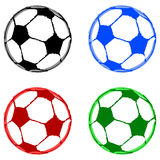 Painted soccer balls Stock Photo