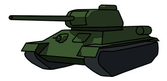 Painted a Soviet tank T-34 Royalty Free Stock Photos