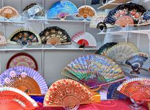 Painted Spanish Hand Fan Royalty Free Stock Images
