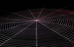 Painted spiderweb Stock Images