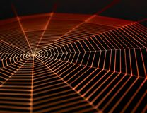 Painted spiderweb Stock Photos