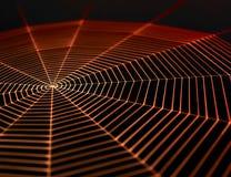 Painted spiderweb Stock Photos