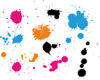 Painted splashes and splatter. Background Stock Photos