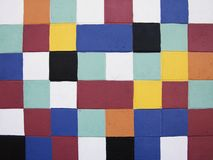 Painted Squares. On a Wall Stock Images