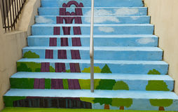 Painted stairs - Mausoleum Stock Photo