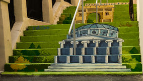 Painted stairs - Romanian Athenaeum Stock Photos