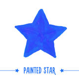 0344 - painted star Stock Image