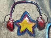 Painted star Stock Photos