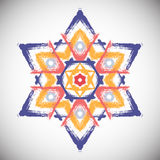 Painted Star Hexagram Royalty Free Stock Photography