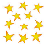 Painted stars Royalty Free Stock Image