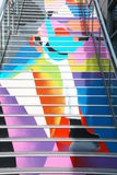 Painted steps in Docklands, Victoria. Stock Images