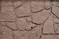 Painted stone wall Stock Image