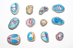 The painted stones Royalty Free Stock Photo