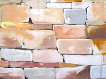 Painted stones background Stock Photos
