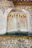 Painted stonework Bachkovski monastery royalty free stock image