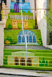 Painted street stairs Stock Photography