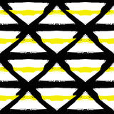 Painted Striped Yellow Black Pattern Royalty Free Stock Photography