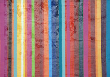 Painted stripes on concrete Stock Images