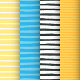 Painted stripes seamless patterns set Stock Image