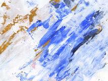 Painted strokes. Painted white. sepia and ultramarine  strokes  background Stock Photos