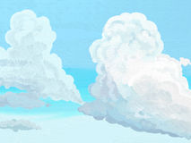 Painted Style Clouds Stock Images