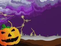 Painted Style Halloween Thunders Stock Photo