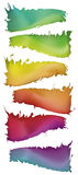 Painted style spectrum shapes Royalty Free Stock Image