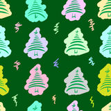Painted stylized Christmas fir-trees Royalty Free Stock Photography