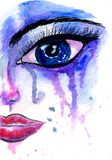 Painted Stylized Face Stock Image