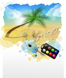 Painted summer land Stock Photography