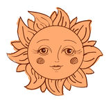 Painted sun Royalty Free Stock Image