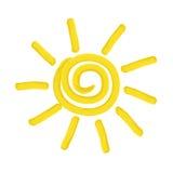 Painted sun -  illustration Stock Photography