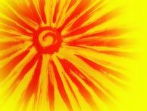 Painted sun Stock Image